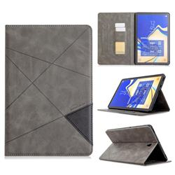 Binfen Color Prismatic Slim Magnetic Sucking Stitching Wallet Flip Cover for Samsung Galaxy Tab S4 10.5 T830 T835 - Gray