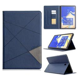 Binfen Color Prismatic Slim Magnetic Sucking Stitching Wallet Flip Cover for Samsung Galaxy Tab S4 10.5 T830 T835 - Blue