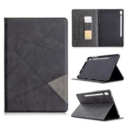 Binfen Color Prismatic Slim Magnetic Sucking Stitching Wallet Flip Cover for Samsung Galaxy Tab S6 10.5 T860 T865 - Black