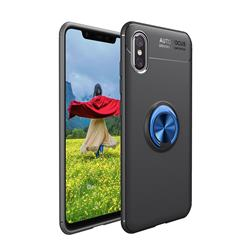 Auto Focus Invisible Ring Holder Soft Phone Case for vivo V11 (V11 Pro, Vivo X21s) - Black Blue