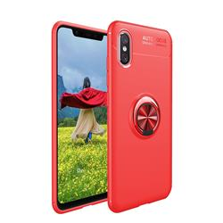 Auto Focus Invisible Ring Holder Soft Phone Case for vivo V11 (V11 Pro, Vivo X21s) - Red