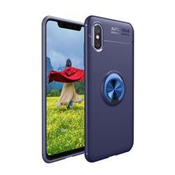 Auto Focus Invisible Ring Holder Soft Phone Case for vivo V11 (V11 Pro, Vivo X21s) - Blue