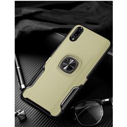 Knight Armor Anti Drop PC + Silicone Invisible Ring Holder Phone Cover for vivo V11 (V11 Pro, Vivo X21s) - Champagne