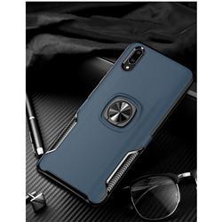Knight Armor Anti Drop PC + Silicone Invisible Ring Holder Phone Cover for vivo V11 (V11 Pro, Vivo X21s) - Sapphire
