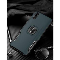 Knight Armor Anti Drop PC + Silicone Invisible Ring Holder Phone Cover for vivo V11 (V11 Pro, Vivo X21s) - Navy