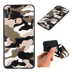 Camouflage Soft TPU Back Cover for Vivo V9 - Black White