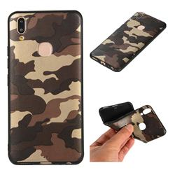 Camouflage Soft TPU Back Cover for Vivo V9 - Gold Coffee