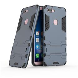 Armor Premium Tactical Grip Kickstand Shockproof Dual Layer Rugged Hard Cover for Vivo X20 - Navy