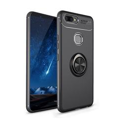 Auto Focus Invisible Ring Holder Soft Phone Case for Vivo X20 Plus - Black