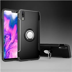 Armor Anti Drop Carbon PC + Silicon Invisible Ring Holder Phone Case for vivo X21 UD - Black