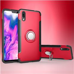 Armor Anti Drop Carbon PC + Silicon Invisible Ring Holder Phone Case for vivo X21 UD - Red