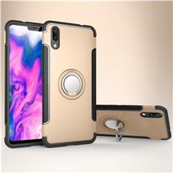 Armor Anti Drop Carbon PC + Silicon Invisible Ring Holder Phone Case for vivo X21 UD - Champagne