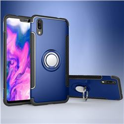 Armor Anti Drop Carbon PC + Silicon Invisible Ring Holder Phone Case for vivo X21 UD - Sapphire
