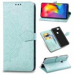 Embossing Imprint Mandala Flower Leather Wallet Case for vivo Y83 - Green