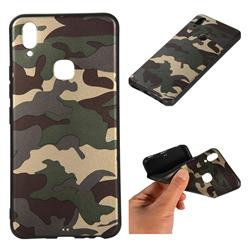 Camouflage Soft TPU Back Cover for vivo Y83 Pro - Gold Green