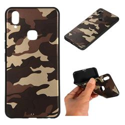 Camouflage Soft TPU Back Cover for vivo Y83 Pro - Gold Coffee