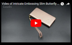 Video of Intricate Embossing Slim Butterfly Rose Leather Holster Case from guuds.com