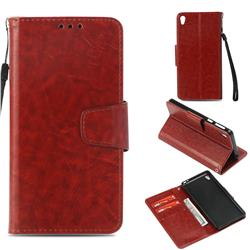 Retro Phantom Smooth PU Leather Wallet Holster Case for Sony Xperia E5 - Brown