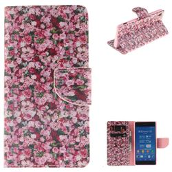 Intensive Floral PU Leather Wallet Case for Sony Xperia Z3
