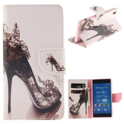 High Heels PU Leather Wallet Case for Sony Xperia Z3