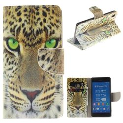 Yellow Tiger PU Leather Wallet Case for Sony Xperia Z3