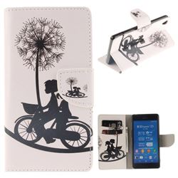 Cycling Dandelion PU Leather Wallet Case for Sony Xperia Z3