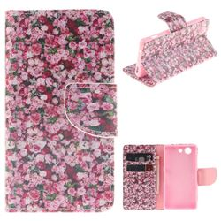 Intensive Floral PU Leather Wallet Case for Sony Xperia Z3 Compact Mini