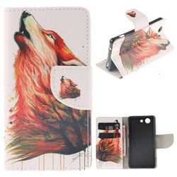 Color Wolf PU Leather Wallet Case for Sony Xperia Z3 Compact Mini