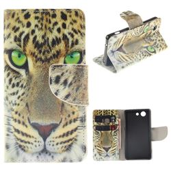 Yellow Tiger PU Leather Wallet Case for Sony Xperia Z3 Compact Mini