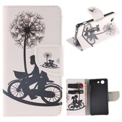 Cycling Dandelion PU Leather Wallet Case for Sony Xperia Z3 Compact Mini