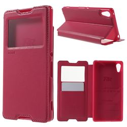 Roar Korea Noble View Leather Flip Cover for Sony Xperia Z4 Z3+ E6553 E6533 - Rose