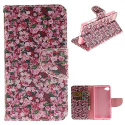 Intensive Floral PU Leather Wallet Case for Sony Xperia Z5 Compact / Z5 Mini