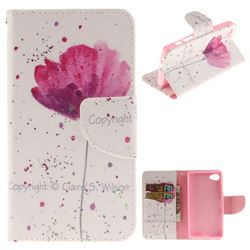 Purple Orchid PU Leather Wallet Case for Sony Xperia Z5 Compact / Z5 Mini