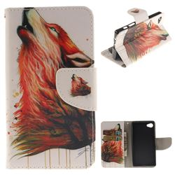 Color Wolf PU Leather Wallet Case for Sony Xperia Z5 Compact / Z5 Mini