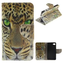 Yellow Tiger PU Leather Wallet Case for Sony Xperia Z5 Compact / Z5 Mini