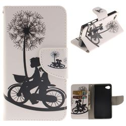 Cycling Dandelion PU Leather Wallet Case for Sony Xperia Z5 Compact / Z5 Mini