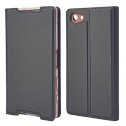Ultra Slim Card Magnetic Automatic Suction Leather Wallet Case for Sony Xperia Z5 Compact / Z5 Mini - Star Grey