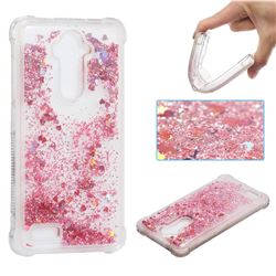 Dynamic Liquid Glitter Sand Quicksand Star TPU Case for ZTE Zmax Pro Z981 - Diamond Rose