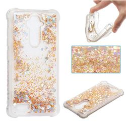 Dynamic Liquid Glitter Sand Quicksand Star TPU Case for ZTE Zmax Pro Z981 - Diamond Gold