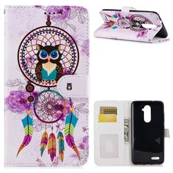 Wind Chimes Owl 3D Relief Oil PU Leather Wallet Case for ZTE Zmax Pro Z981