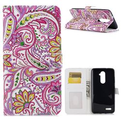 Pepper Flowers 3D Relief Oil PU Leather Wallet Case for ZTE Zmax Pro Z981