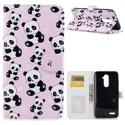 Cute Panda 3D Relief Oil PU Leather Wallet Case for ZTE Zmax Pro Z981