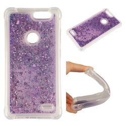 Dynamic Liquid Glitter Sand Quicksand Star TPU Case for ZTE Blade Z Max Z982 - Purple