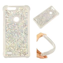 Dynamic Liquid Glitter Sand Quicksand Star TPU Case for ZTE Blade Z Max Z982 - Silver