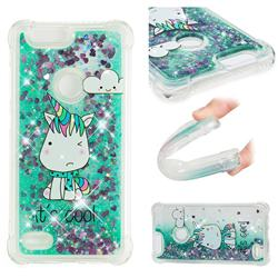 Tiny Unicorn Dynamic Liquid Glitter Sand Quicksand Star TPU Case for ZTE Blade Z Max Z982