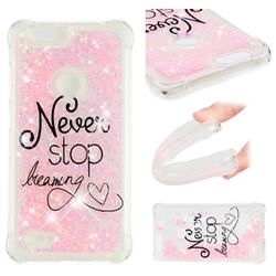 Never Stop Dreaming Dynamic Liquid Glitter Sand Quicksand Star TPU Case for ZTE Blade Z Max Z982