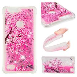 Pink Cherry Blossom Dynamic Liquid Glitter Sand Quicksand Star TPU Case for ZTE Blade Z Max Z982