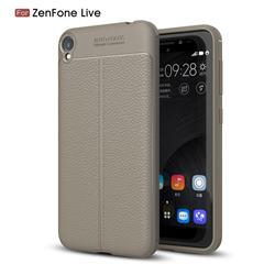 Luxury Auto Focus Litchi Texture Silicone TPU Back Cover for Asus Zenfone Live ZB501KL / Zenfone 3 Go - Gray