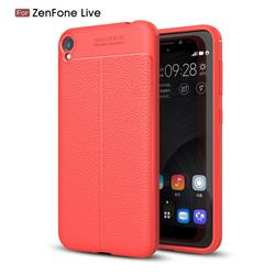 Luxury Auto Focus Litchi Texture Silicone TPU Back Cover for Asus Zenfone Live ZB501KL / Zenfone 3 Go - Red