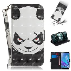 Angry Bear 3D Painted Leather Wallet Phone Case for Asus Zenfone Max (M1) ZB555KL